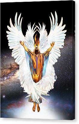 Seraph Cries Holy Canvas Print by Ron Cantrell