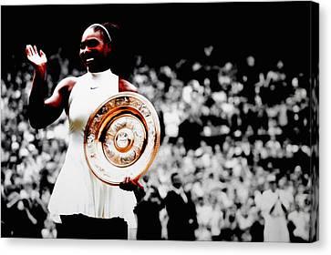 Serena 2016 Wimbledon Victory Canvas Print by Brian Reaves