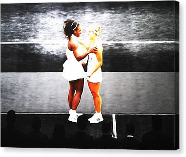 Serena Williams And Angelique Kerber 3a Canvas Print by Brian Reaves