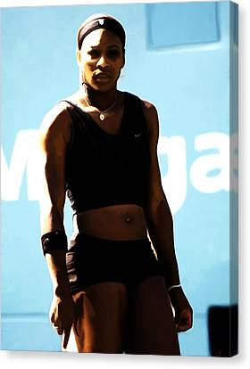 Serena Williams Match Point IIi Canvas Print by Brian Reaves