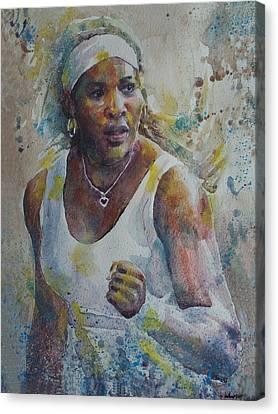 Serena Williams - Portrait 5 Canvas Print by Baresh Kebar - Kibar