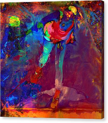 Serena Williams Return Explosion Canvas Print by Brian Reaves