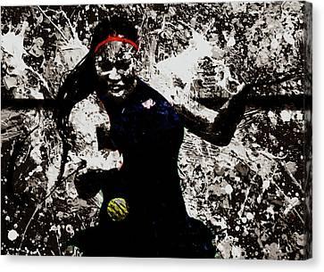 Serena Williams S4e Canvas Print by Brian Reaves