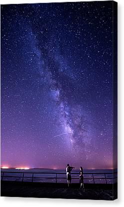 Serenade Under Milky Way Canvas Print by Okan YILMAZ