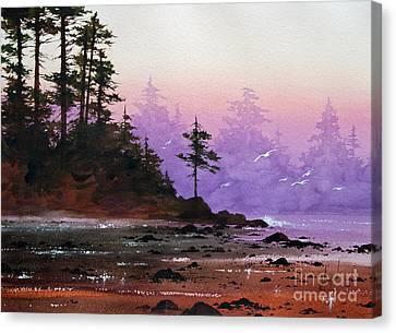 Serene Coast Sunset Canvas Print by James Williamson