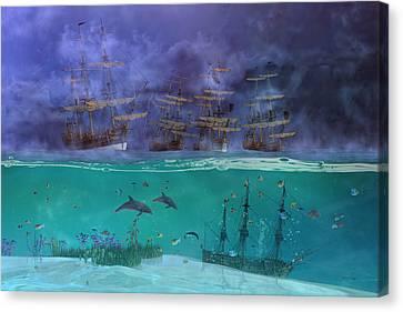 Serenity Point Canvas Print by Betsy Knapp