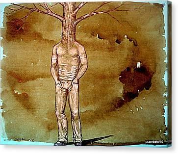 Series Trees Drought Canvas Print by Paulo Zerbato