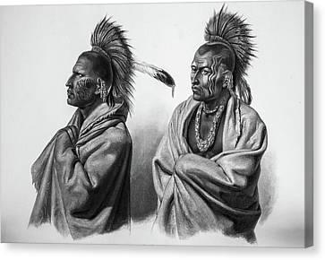 Serious Massika Saki Native Americans Canvas Print by Douglas Barnett