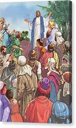 Sermon On The Mount Canvas Print by Valer Ian