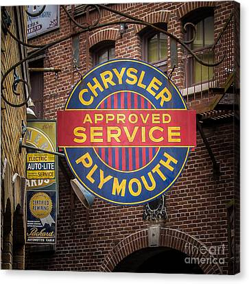 Service Sign Canvas Print by Perry Webster