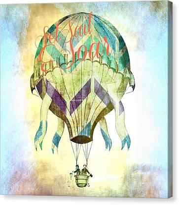 Set Sail And Soar Canvas Print by Brandi Fitzgerald