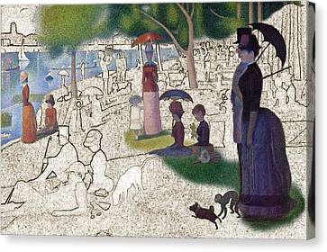 Seurat Sunday Afternoon Canvas Print by Karla Beatty
