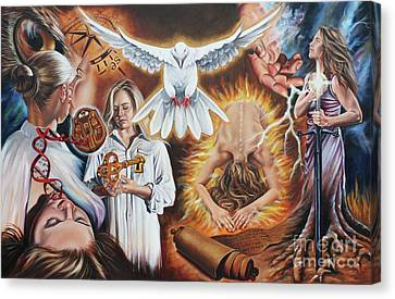 Seven-fold Spirit Of The Lord Canvas Print by Ilse Kleyn