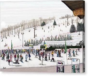 Seven Springs Stowe Slope Canvas Print by Albert Puskaric