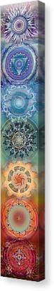 Seven, The Chakras Canvas Print by Brenda Erickson