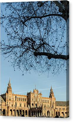 Seville - A View Of Plaza De Espana Canvas Print by Andrea Mazzocchetti