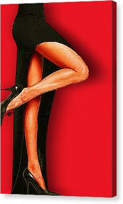 Sexy Pins Also Known As Legs 1 Canvas Print by Tony Rubino
