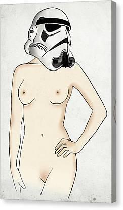 Sexy Stormtrooper Canvas Print by Nicklas Gustafsson