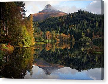 Sgurr Na Ciche The Pap Of Glencoe Canvas Print by John McKinlay