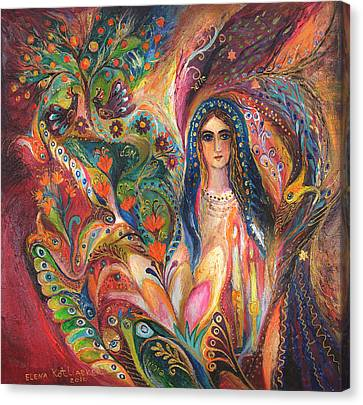 Shabbat Queen Canvas Print by Elena Kotliarker