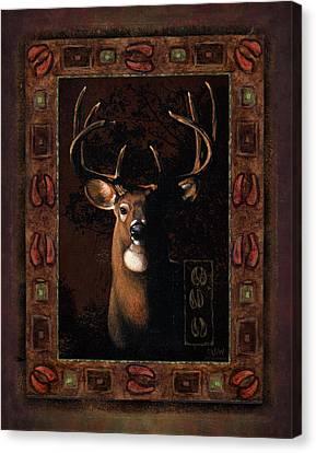 Shadow Deer Canvas Print by JQ Licensing