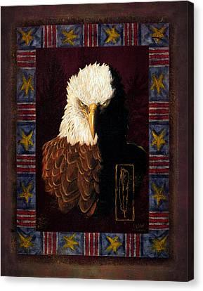 Shadow Eagle Canvas Print by JQ Licensing