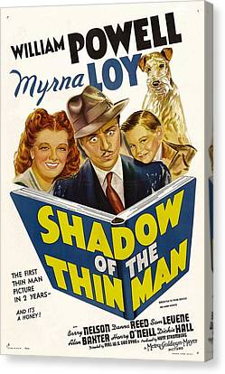 Shadow Of The Thin Man, Myrna Loy Canvas Print by Everett