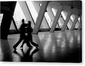 Shadow Tango Canvas Print by Lian Wang