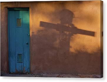 Shadows Adobe Wall Canvas Print by Steve Gadomski