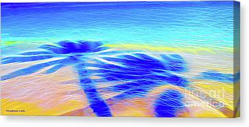 Shadows In The Surf Canvas Print by Jerome Stumphauzer