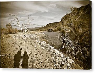 Shadows Lurking Canvas Print by Keith Sanders