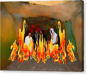 Shadrach Meshach And Abednego  Canvas Print by Bruce Nutting