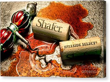 Shafer Hillside Select Uncorked Canvas Print by Jon Neidert