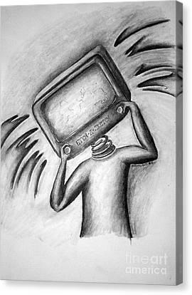 Shakin My Head Like An Etch A Sketch Canvas Print by Tracy Glantz