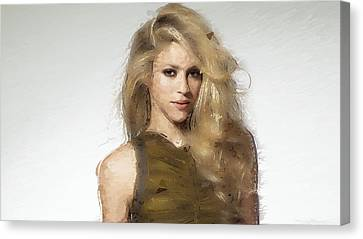 Shakira Canvas Print by Iguanna Espinosa
