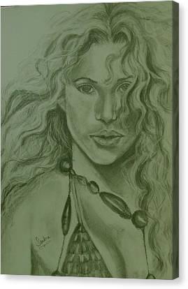 Shakira Canvas Print by Sandra Valentini