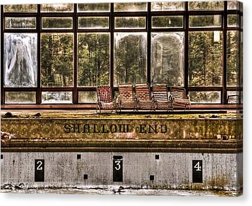 Shallow End Canvas Print by Evelina Kremsdorf
