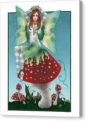 Shamrock Fairy Canvas Print by KimiCookie Williams