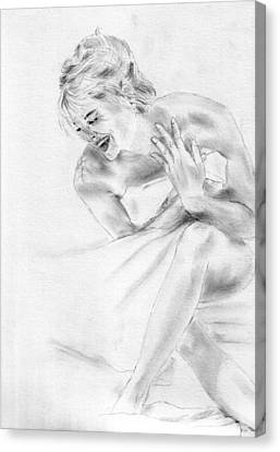 Sharon Stone Canvas Print by Jessica Rose