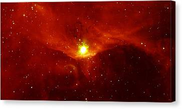 Sharpless 140 In The Constellation Cepheus Canvas Print by American School