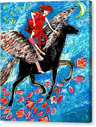 She Flies With The West Wind Canvas Print by Sushila Burgess