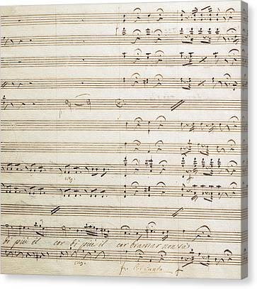 Sheet Music For The Barber Of Seville By Rossini  Canvas Print by Gioachino Rossini