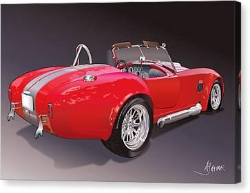 Shelby Cobra Canvas Print by Alain Jamar