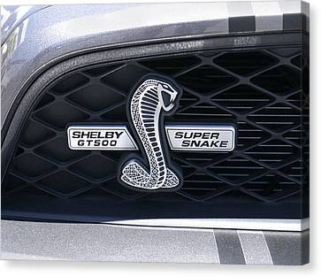 Shelby Gt 500 Super Snake Canvas Print by Mike McGlothlen