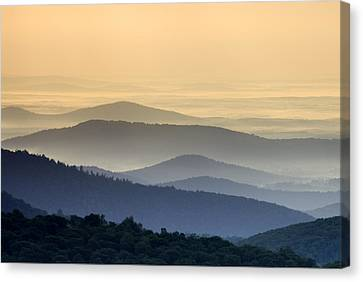 Shenandoah National Park Mountain Scene Canvas Print by Brendan Reals