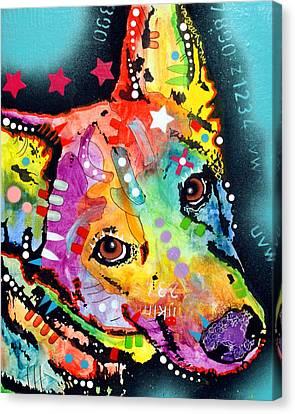 Shep Canvas Print by Dean Russo