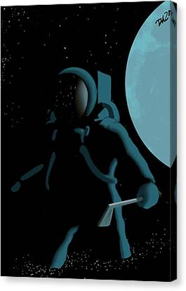 Shepard In The Rough Canvas Print by Tom Dickson
