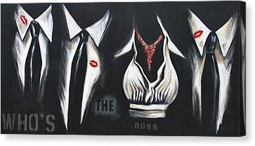 She's The Boss Canvas Print by Lori McPhee