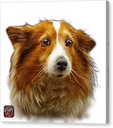 Shetland Sheepdog Dog Art 9973 - Wb Canvas Print by James Ahn