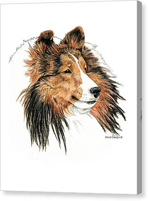 Shetland Sheepdog, Sheltie Sable Canvas Print by Kathleen Sepulveda